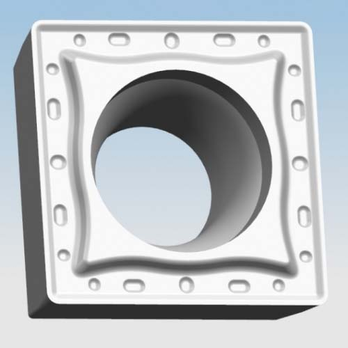 Semi-finishing square boring inserts with clearance angle