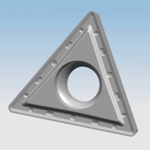 Semi-finishing triangular boring inserts with clearance angle