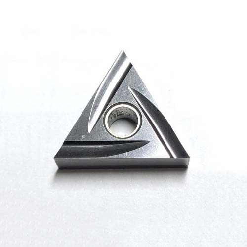 Left/right hand triangular grinding inserts with negative-angle